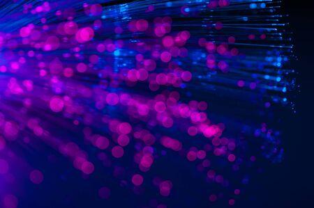 fiber optics: defocused abstract fiber optics lights background
