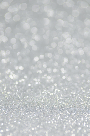 silver background: silver glitter christmas abstract background Stock Photo