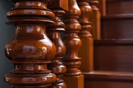 wood turning: wood stair