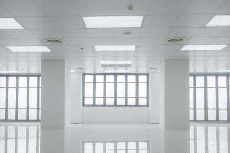 white office with windows light