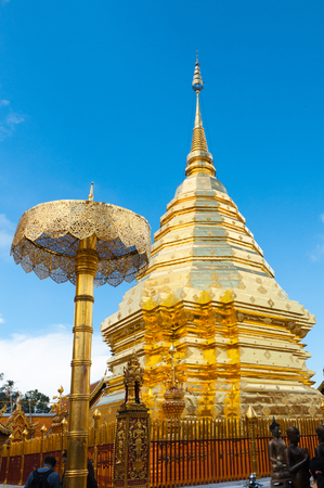Wat Phrathat Doi Suthep temple in Chiang Mai, Thailand  photo