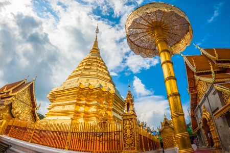 Wat Phrathat Doi Suthep temple in Chiang Mai, Thailand. photo