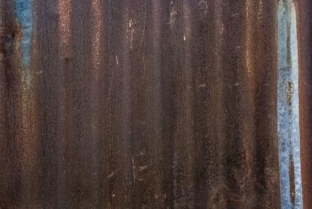 corrugated steel: Old rusty zinc