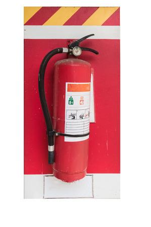 extinguishers: Old fire extinguishers isolated Stock Photo