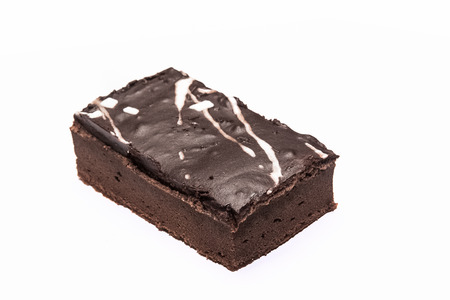 Sweet and tasty chocolate cake great for during coffee break photo