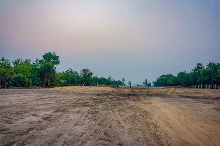 empty land near by forest, Thailand