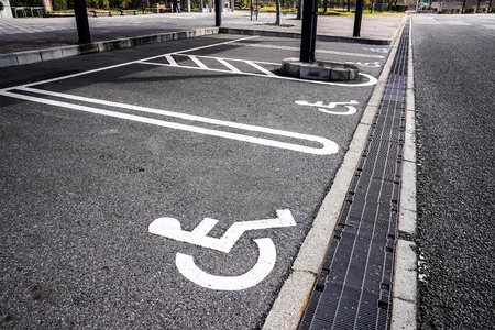Reserved Parking for people with disabilities in Japan car reat area.