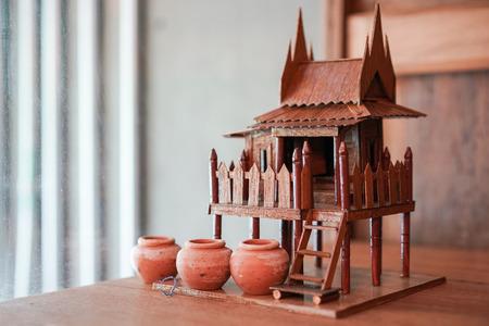 tiny Thai pavilion decoration. Stok Fotoğraf