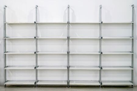 Clean modern rectangle shelf build in fix to white wall.