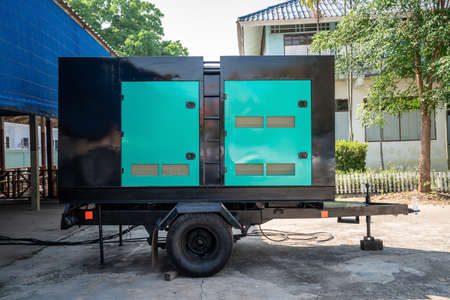 Electricity Generated in container car for spare part to lack of eletric in outdoor event.