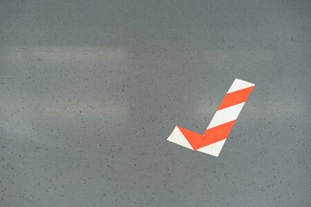 Red - white marking tape to