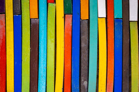 Cement arts pattern colourful background like the arranged books on the wall.