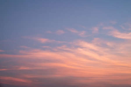 Pink and orange sky in twilight time for background.