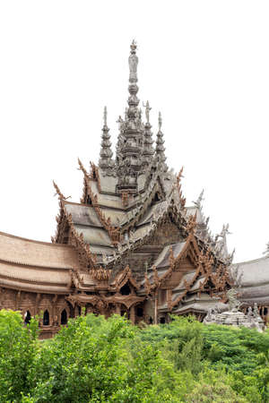 Sanctuary of Truth is an unfinished Hindu-Buddhist temple and museum in Pattaya, Thailand. It was designed by the Thai businessman Lek Viriyaphan in the Ayutthaya style.