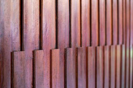 Wood battens wall in vintage and asian style. 版權商用圖片