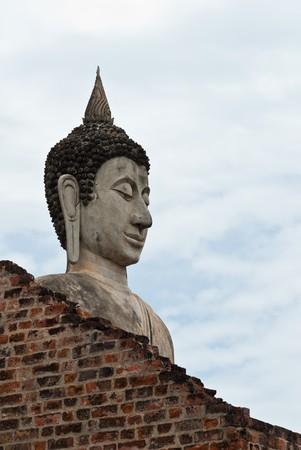 antica Tailandia statua di buddha Archivio Fotografico