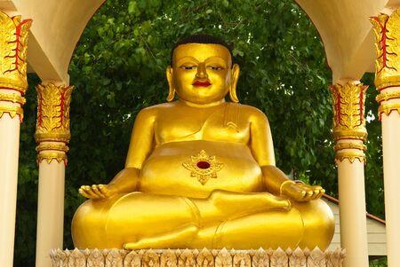 antica statua buddha, Wat Phut - Udom, Pathum Thani, Thailandia