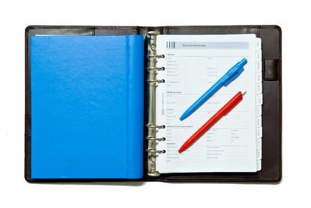 notebook on white background photo
