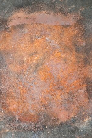 oxidized: close up of rusty metallic surface