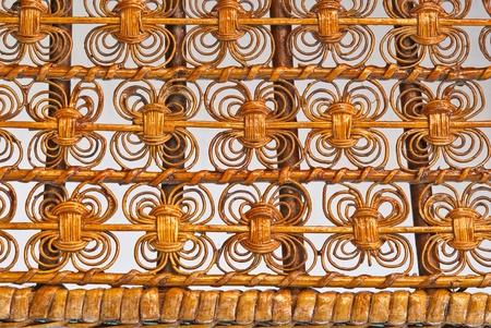 close up of a bamboo basket  photo