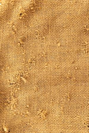 linen bag: texture of the bag hemp