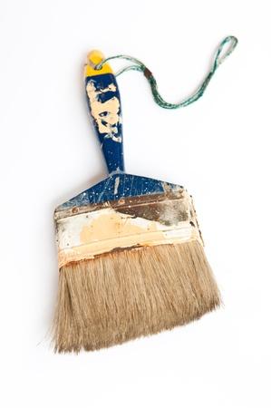old brush on white background Stock Photo