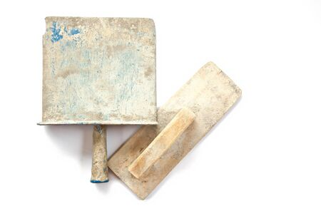 wornout: worn-out old dirty construction tool Stock Photo