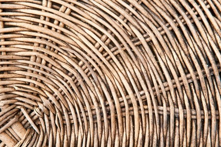 basketry: close up old basketry of rattan