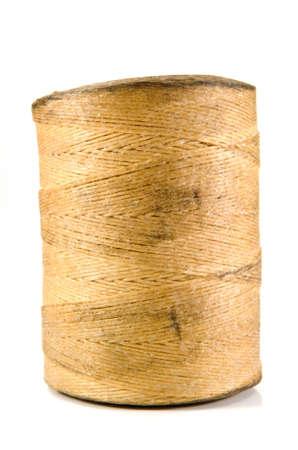 hank: old string hank on white background