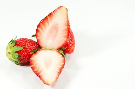 strawberry close up on white background Stock Photo