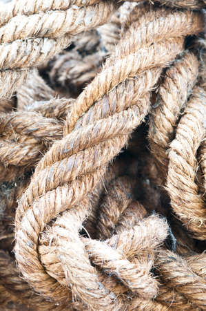 old rope close up background