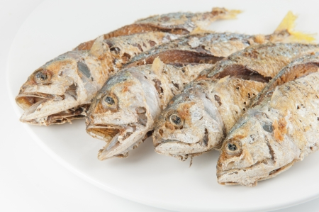 fried fish on white background Stock Photo - 16006681