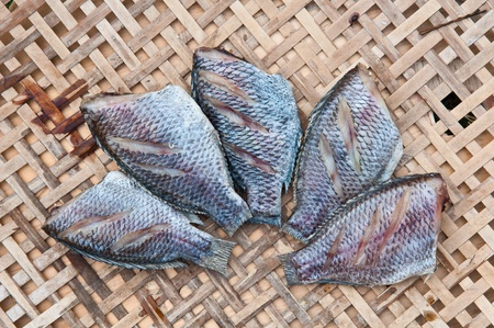 Dried fishes close up , thailand Stock Photo - 19155064