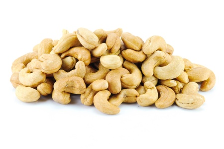 cashew nuts on white background Stock Photo