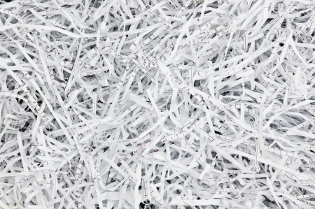 shredder: Paper strips from a shredder Stock Photo