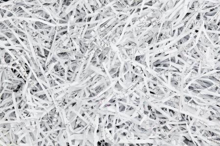 Strisce di carta da un trituratore