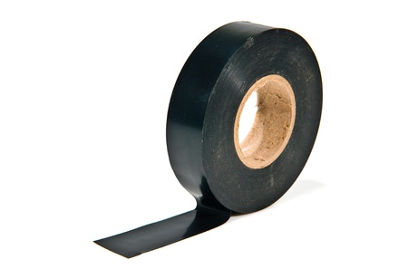 old and dirty black adhesive tape photo