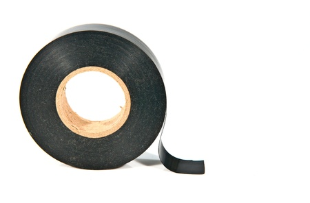 old and dirty black adhesive tape