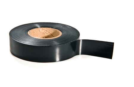 black adhesive tape on white background Reklamní fotografie