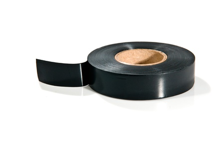 black adhesive tape on white background photo
