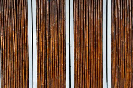 colorful bamboo door close up photo