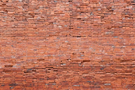 Old orange bricks wall background Stock Photo