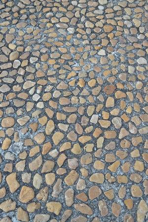 vecchio pavimento di mattoni da vicino