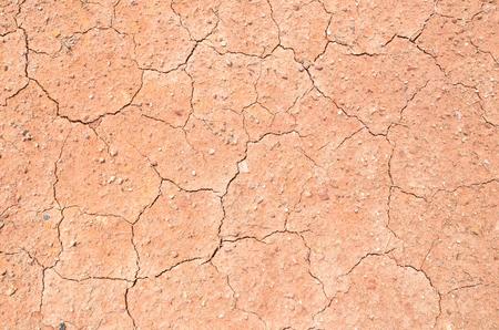 suolo argilloso, incrinato da vicino Archivio Fotografico