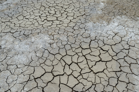 abstract background of cracked clay ground Stock Photo