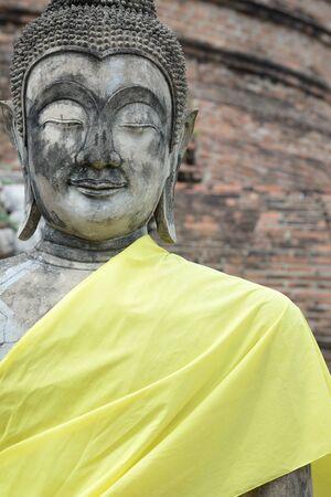 chaimongkol: Buddha in temple of Wat Yai Chaimongkol Ayutthaya Stock Photo