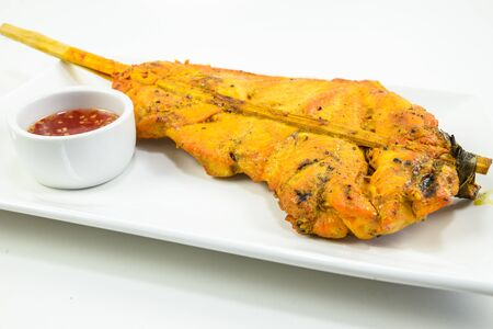 Grilled chicken with spicy sauce