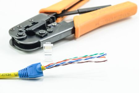 crimp: Equipment for installing lan cable