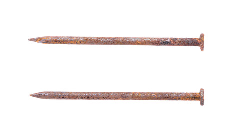 rusty nail: Rusty nail  on white background Stock Photo