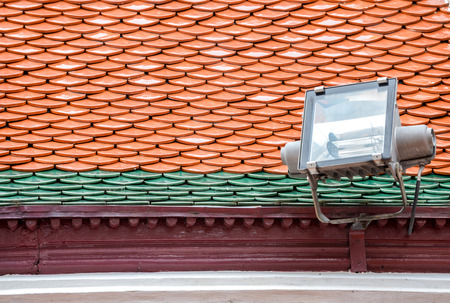 Spotlights Mounted on the roof